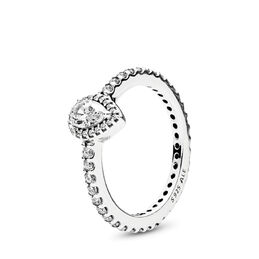 Strahlender Tropfen Ring, Sterling-Silber, Kein anderes Material, Keine Farbe, Cubic Zirkonia - PANDORA - #196254CZ