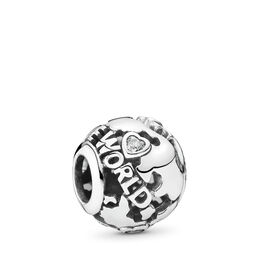 """Around the world"" Charm, Sterling-Silber, Kein anderes Material, Keine Farbe, Cubic Zirkonia - PANDORA - #791718CZ"