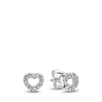 Ohrstecker, Sterling-Silber, Cubic Zirkonia, Sterling-Silber, Kein anderes Material, Keine Farbe, Cubic Zirkonia - PANDORA - #290528CZ