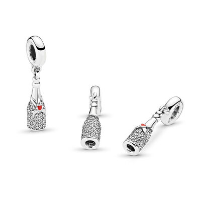 Celebration Time Charm-Anhänger, Sterling-Silber, Emaille, Rot, Cubic Zirkonia - PANDORA - #792152CZ