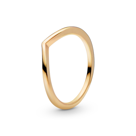 Polierter Wishbone-Ring