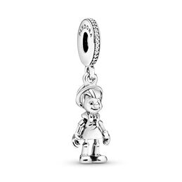 Disney, Pinocchio Charm, Sterling-Silber, Kein anderes Material, Keine Farbe, Cubic Zirkonia - PANDORA - #797489CZ