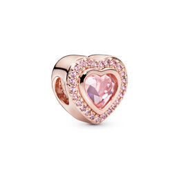 Sparkling Love Charm, PANDORA Rose, Kein anderes Material, Keine Farbe, Kristall - PANDORA - #787608NPM
