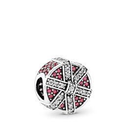 Funkelndes Geschenk rot Charm, Sterling-Silber, Kein anderes Material, Rot, Cubic Zirkonia - PANDORA - #792006CZR