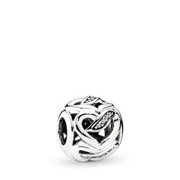 Liebesband Charm, Sterling-Silber, Kein anderes Material, Keine Farbe, Cubic Zirkonia - PANDORA - #792046CZ