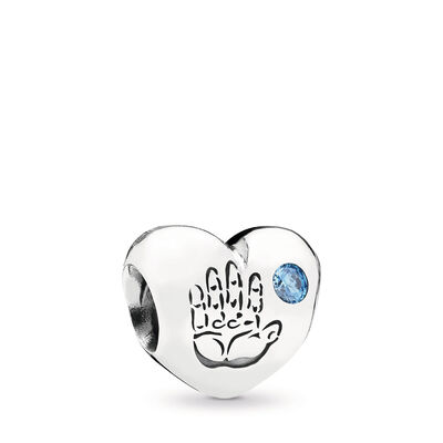 Baby-Charm Junge, Sterling-Silber, Kein anderes Material, Blau, Cubic Zirkonia - PANDORA - #791281CZB