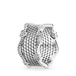 Lace of Love Ring, Sterling-Silber, Kein anderes Material, Keine Farbe, Cubic Zirkonia - PANDORA - #197706CZ-54