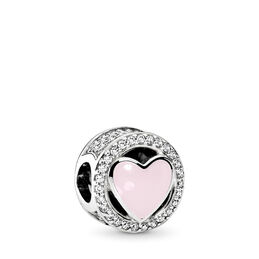 Wundervolle Liebe Charm, Sterling-Silber, Emaille, Pink, Cubic Zirkonia - PANDORA - #792034CZ