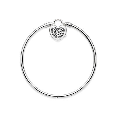 Moments Silver Armreif, Flourishing Hearts, Sterling-Silber, Kein anderes Material, Keine Farbe, Keine Steine - PANDORA - #597101