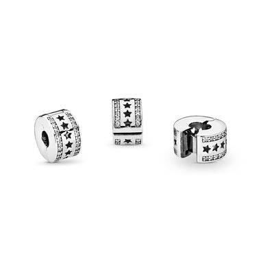 Sternenformation Clip, Sterling-Silber, Kein anderes Material, Keine Farbe, Cubic Zirkonia - PANDORA - #796381CZ
