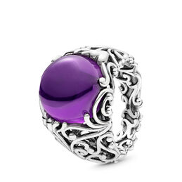 Regal Dazzling Beauty Ring, Sterling-Silber, Kein anderes Material, Lila, Cubic Zirkonia - PANDORA - #197678ACZ