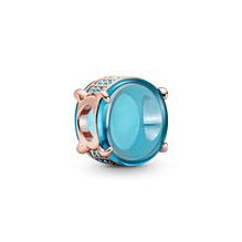 Blaues Ovales Cabochon-Charm