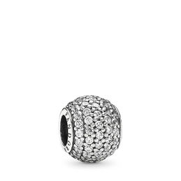 Pavé-Kugel, Charm, Sterling-Silber, Kein anderes Material, Keine Farbe, Cubic Zirkonia - PANDORA - #791051CZ