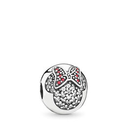 Disney, Minnie Pavé, Sterling-Silber, Kein anderes Material, Rot, Cubic Zirkonia - PANDORA - #791450CZ