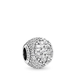 Enchanted Pavé Charm, Sterling-Silber, Kein anderes Material, Keine Farbe, Cubic Zirkonia - PANDORA - #797032CZ