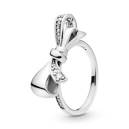Brilliant Bow Ring, Sterling-Silber, Kein anderes Material, Keine Farbe, Cubic Zirkonia - PANDORA - #197232CZ