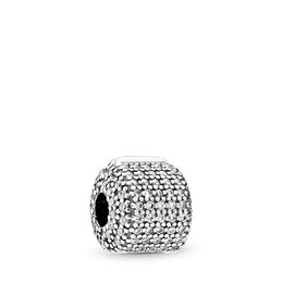 Pavé-Clip, Sterling-Silber, Kein anderes Material, Keine Farbe, Cubic Zirkonia - PANDORA - #791873CZ