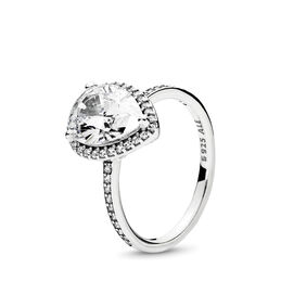 Strahlender Tropfen Ring, Sterling-Silber, Kein anderes Material, Keine Farbe, Cubic Zirkonia - PANDORA - #196251CZ