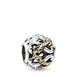 Family Always & Forever Charm, Bicolor: 14-K-Gold, Kein anderes Material, Keine Farbe, Cubic Zirkonia - PANDORA - #791525CZ