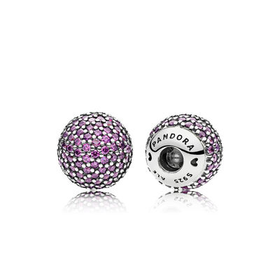 Purple Pavé Caps, Sterling-Silber, Kein anderes Material, Lila, Cubic Zirkonia - PANDORA - #796481CFP