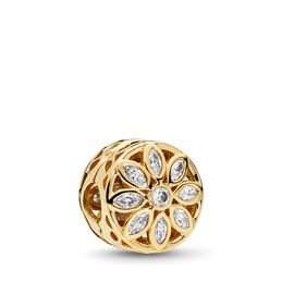 Opulent Flower Charm, 14-K-Gold, Kein anderes Material, Keine Farbe, Cubic Zirkonia - PANDORA - #757639CZ