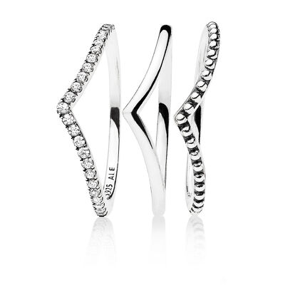 """Wishbone"" Ring Set"