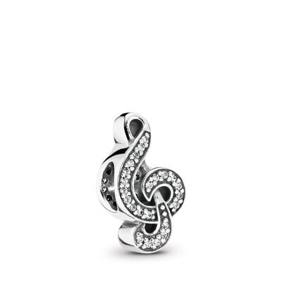 Sweet Music Charm, Sterling-Silber, Kein anderes Material, Keine Farbe, Cubic Zirkonia - PANDORA - #791381CZ