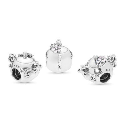 Enchanted Tea Pot Charm, Sterling-Silber, Emaille, Pink, Cubic Zirkonia - PANDORA - #797065CZ