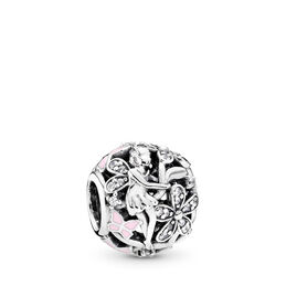Glanzvolle Elfe Charm, Sterling-Silber, Emaille, Pink, Cubic Zirkonia - PANDORA - #791841EN68