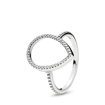 Tropfensilhouette Ring, Sterling-Silber, Kein anderes Material, Keine Farbe, Cubic Zirkonia - PANDORA - #196253CZ