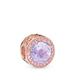 Lavender Radiant Hearts Charm, PANDORA Rose, Kein anderes Material, Lila, Cubic Zirkonia - PANDORA - #781725LCZ