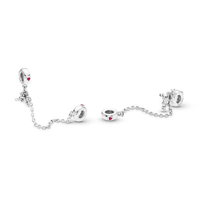 Disney, Climbing Mickey Komfortkette, Sterling-Silber, Kein anderes Material, Rot, Cubic Zirkonia - PANDORA - #797173CZR