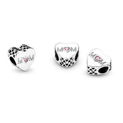 Mutterliebe Charm, Sterling-Silber, Kein anderes Material, Keine Farbe, Cubic Zirkonia - PANDORA - #791881PCZ