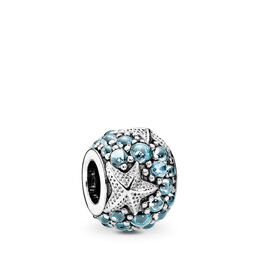 Seestern Charm, Sterling-Silber, Kein anderes Material, Blau, Cubic Zirkonia - PANDORA - #791905CZF
