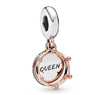Queen & Regal Crown Charm-Anhänger
