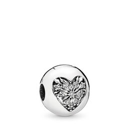 Winter-Herz Clip, Sterling-Silber, Kein anderes Material, Keine Farbe, Cubic Zirkonia - PANDORA - #796388CZ