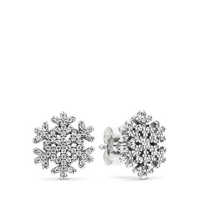 Eisstern Ohrstecker, Sterling-Silber, Kein anderes Material, Keine Farbe, Cubic Zirkonia - PANDORA - #290589CZ
