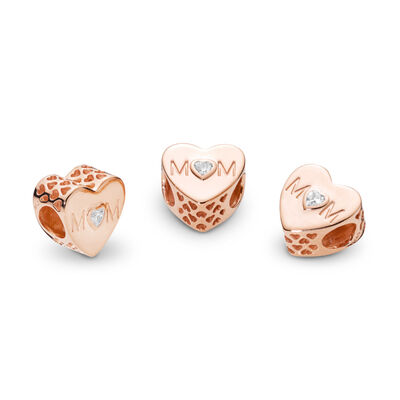 Mother Heart Charm, PANDORA Rose, Kein anderes Material, Keine Farbe, Cubic Zirkonia - PANDORA - #781881CZ