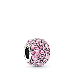 Glitzernde Tröpfchen rosa Charm, Sterling-Silber, Kein anderes Material, Pink, Cubic Zirkonia - PANDORA - #791755PCZ