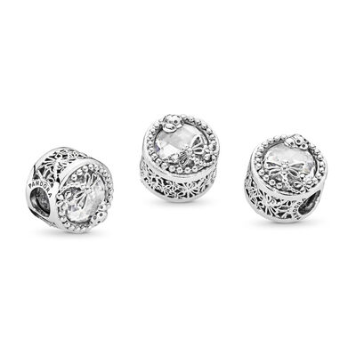 Enchanted Nature Charm, Sterling-Silber, Kein anderes Material, Keine Farbe, Cubic Zirkonia - PANDORA - #797047CZ