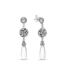 Regal Droplets Ohrringe, Sterling-Silber, Kein anderes Material, Keine Farbe, Cubic Zirkonia - PANDORA - #297686CZ