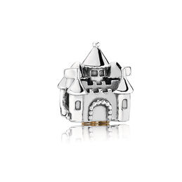 Castle & Crown Charm, Bicolor: 14-K-Gold, Kein anderes Material, Keine Farbe, Cubic Zirkonia - PANDORA - #791133PCZ
