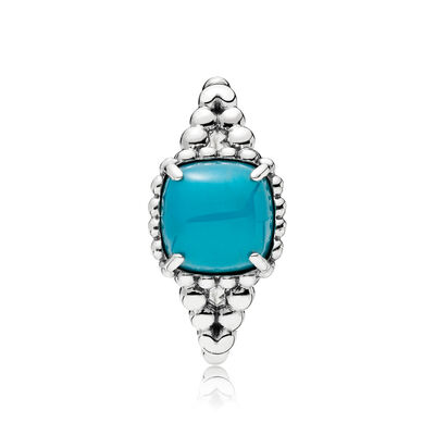 Blue Vibrant Spirit Ring, Sterling-Silber, Kein anderes Material, Blau, Kristall - PANDORA - #197188NSC