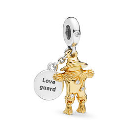 Scarecrow Guardian Charm, PANDORA Shine and sterling silver, Kein anderes Material, Keine Farbe, Cubic Zirkonia - PANDORA - #767629CZ