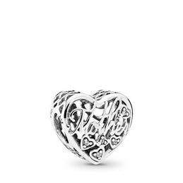 Mother & Son Bond Charm, Sterling-Silber, Kein anderes Material, Keine Farbe, Cubic Zirkonia - PANDORA - #792109CZ