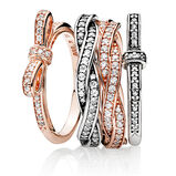 """PANDORA ROSE Mix"" Ring Set"