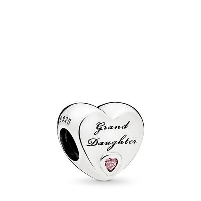 Grand Daughter-Herz Charm, Sterling-Silber, Kein anderes Material, Keine Farbe, Cubic Zirkonia - PANDORA - #796261PCZ