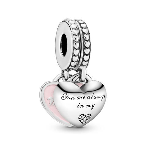 Mother & Daughter Hearts Charm-Anhänger