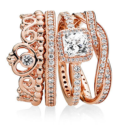 """PANDORA ROSE"" Ring Set"