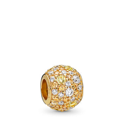 Golden Mix Pavé Ball Charm